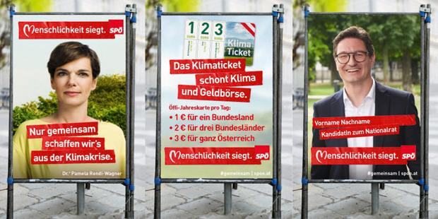 SPÖ Wahlplakate 2019 Rendi