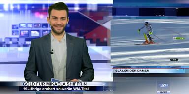 SKI WM 2015: Gold für Mikaela Shiffrin