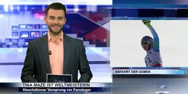 SKI WM 2015: Tina Maze gewinnt Abfahrt & Reichelt-Feier