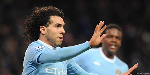 Rätselraten um Manchester-City-Goalgetter Tevez