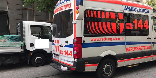 Säureattacke Rettungsauto Wien