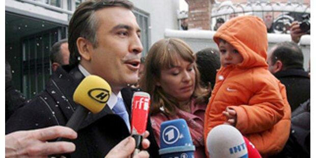 Saakaschwili gewann Wahl in erster Runde