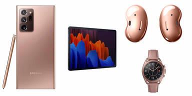 Galaxy Note 20, Z Fold 2, Tab S7, Buds Live & Watch 3