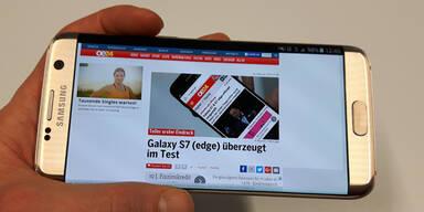 Galaxy S7 edge im großen oe24.at-Test