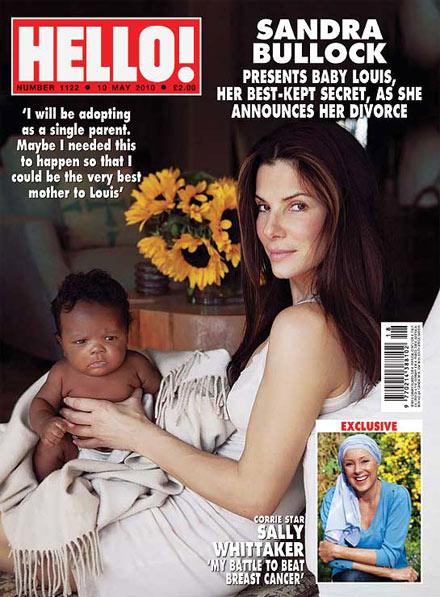 Sandra Bullock zeigt Baby Louis in Hello!