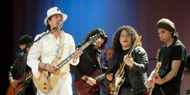 Gitarrengott Santana rockt Österreich