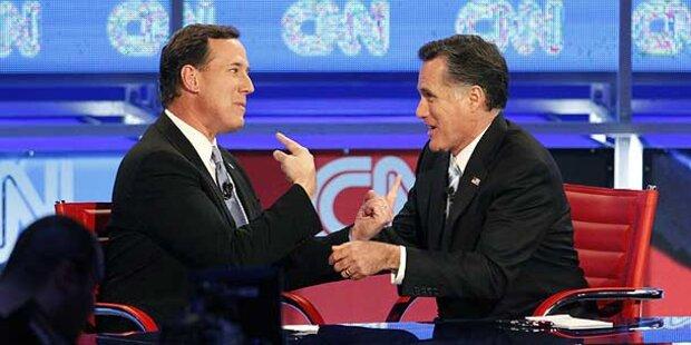 Romney legt sich im TV mit Santorum an