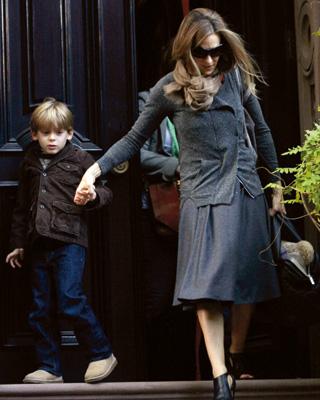 Sarah Jessica Parker mit ihrem älteren Sohn James (7).