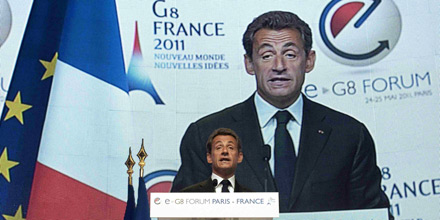 Sarkozy G8 eG8 Internet