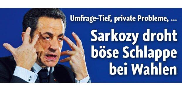 Sarkozy droht böse Schlappe bei Wahlen