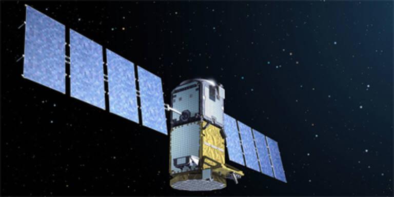 Visualisierung eines Galileo-Satelliten.