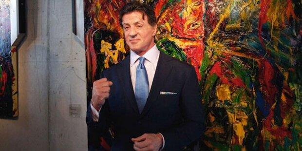Stallone stellt Gemälde in Russland aus