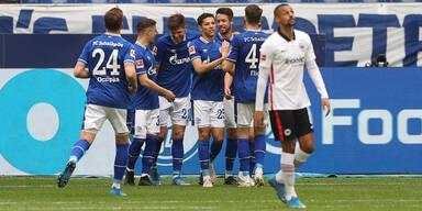 Schalke-Jubel gegen Eintracht Frankfurt