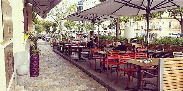Schanigarten im Restaurant KOLIN macht Freude