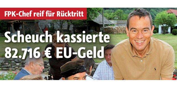 Scheuch kassierte von der EU 82.716 Euro