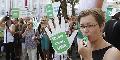 Uwe Scheuch Demo Klagenfurt