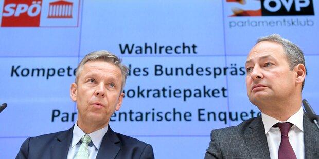 Koalition will Vorwahltag & Hofburg-Entrumpelung