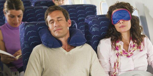 Darum sollten Sie im Flieger lieber nicht schlafen