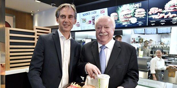 Häupl gratuliert McDonald's zum 40er