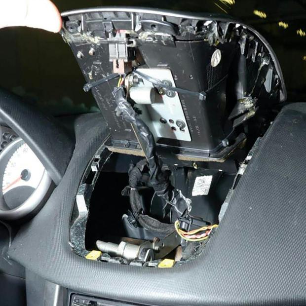Schmuggelversteck im Auto