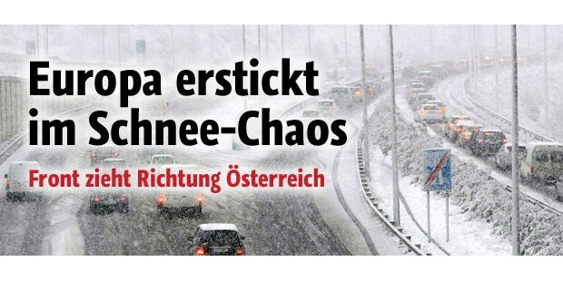 Schneechaos sogar in Südeuropa