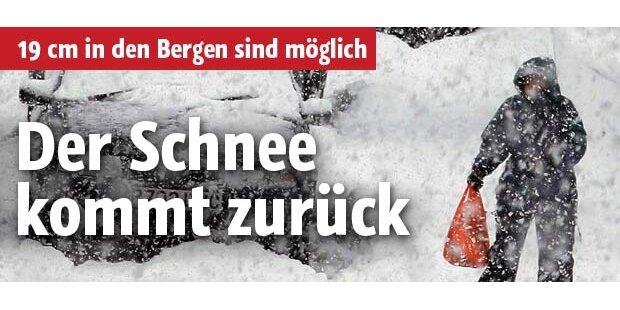Der Schnee kommt nach Tirol zurück