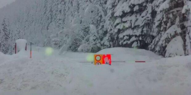 Straßen wegen Schnee weiter unpassierbar