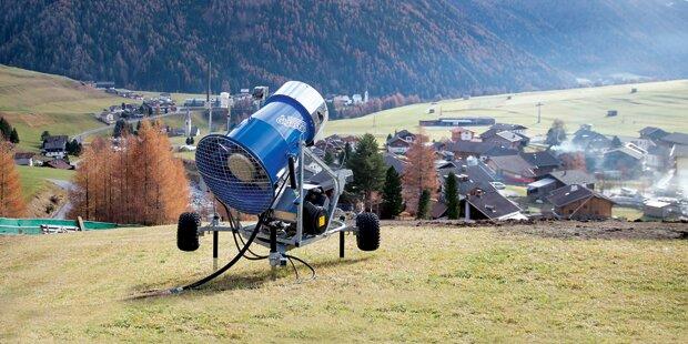 Verbot für Schnee-Kanonen