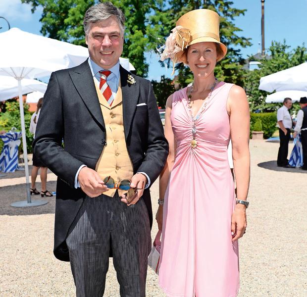 Prinzessin Tatjana zu Hohenlohe-Langenburg mit Mann Hubertus Stephan