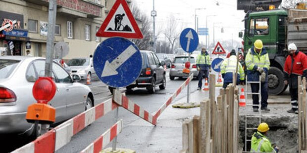 Baustellen legen Verkehr lahm