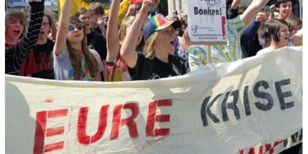 Lehrer sperren die Schulen zu
