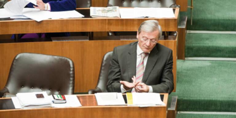Wolfgang Schüssel im Parlament.