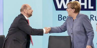 Schulz Merkel Elefantenrunde