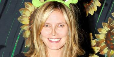 Schwangere Heidi Klum ohne Make-Up