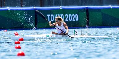 Kanutin Viktoria Schwarz bei den Olympischen Spielen