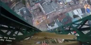 """Video zeigt """"Roofer"""" am Prater-Turm"""