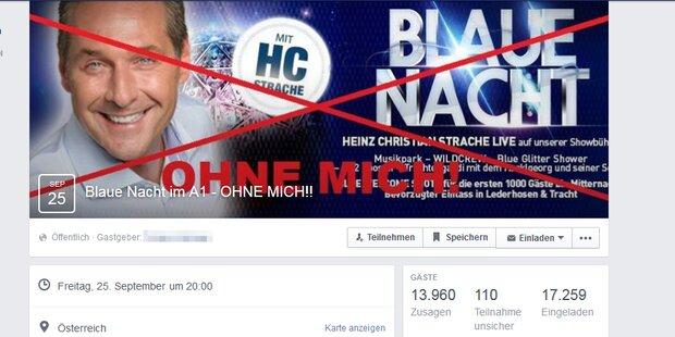Tausende rufen zum Strache-Disco-Boykott auf
