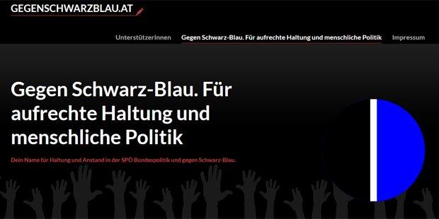 Homepage macht mobil gegen Schwarz-Blau