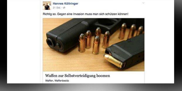"""FPÖ-Mann will sich mit Waffen """"schützen"""""""
