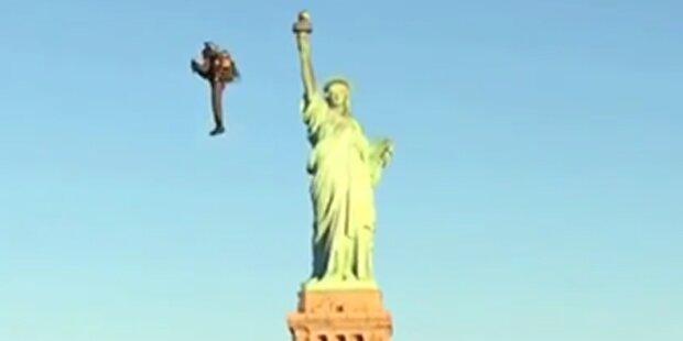Mit dem Jetpack um die Freiheitsstatue