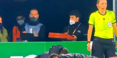 Pizzalieferant verirrt sich im Stadion