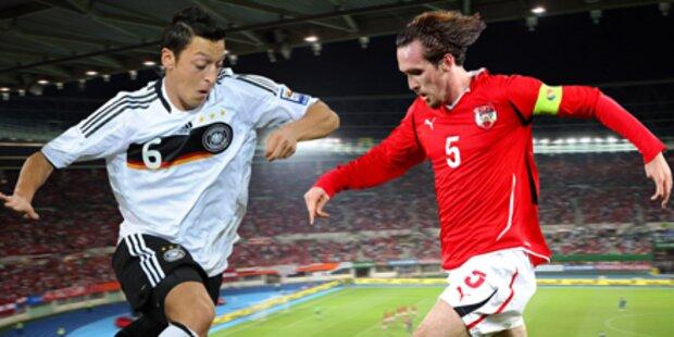 Tickets für das Ländermatch Österreich - Deutschland