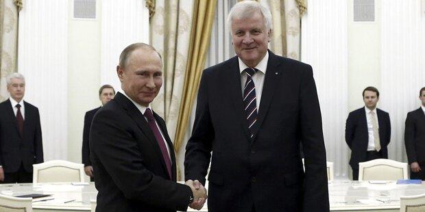 So läuft das Treffen zwischen Seehofer und Putin
