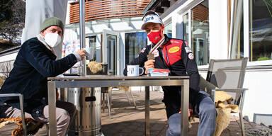 Kaffee beim fliegenden Barista