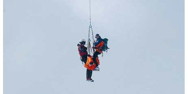Skigruppe wurde zwei Mal (!) gerettet