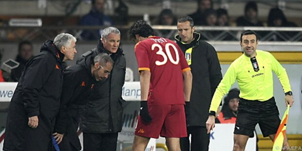 AS Rom im Spitzenspiel gegen Milan wieder mit Toni