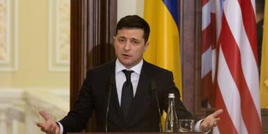 Corona: Ukraines Präsident Selenskyj im Spital