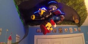 Kinderzimmer als Super Mario Kulisse!