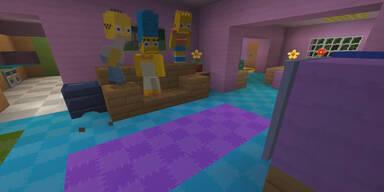 Simpsons als Minecraft Helden