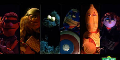 Cookie Monster parodiert die Avengers